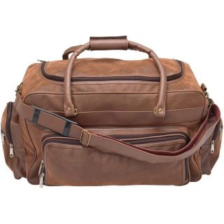 Womens 23 Faux Leather Duffle Bag, Brown Overnight Carry On Luggage