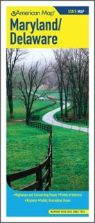 Maryland Delaware State Road Map 2 Sides Folded Map