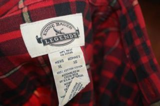 Eddie Bauer Mens Scottish Plaid Flannel Barn Shirt XL