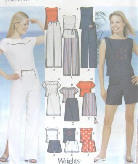 shorts skirt top sewing pattern easy sew simplicity 5165 uncut