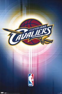 CLEVELAND CAVALIERS NBA Basketball Official Team Logo Poster