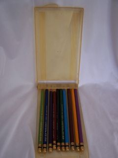 10 VINTAGE EBERHARD FABER MONGOL COLORED PENCILS AND ORIGINAL 40s