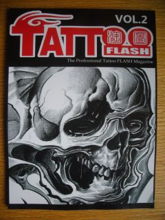 The Professional Tattoo Flash Magazine Vol 2 Sketch Book Skull Tiger