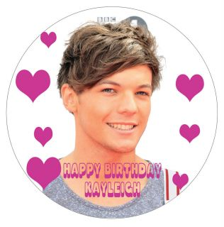 Louis Personalised Cake Topper 7 5 inch Round Edible Rice Paper