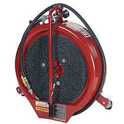 Gray 15 gallon Oil drain pan and pump