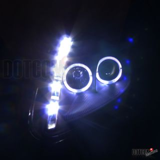 2000 2005 Eclipse Black 2X Halo Projector Headlights SMD LED DRL Head