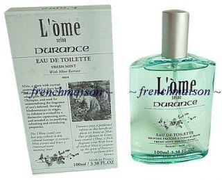 Durance en Provence French FRESH MINT Extract Men Homme Eau de