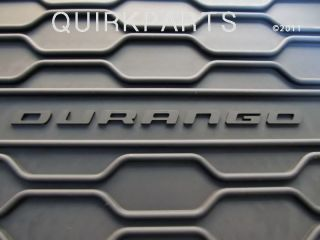 2012 2013 Dodge Durango Rubber Slush Mats Set of 4 Mopar Genuine New