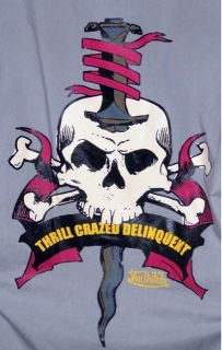 von dutch mechanic work shirt thrill crazed delinquent excellent