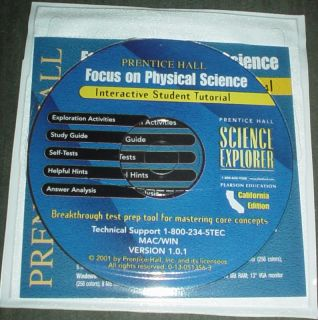 Prentice Hall Physical Science 8th CD ROM Tests Answers