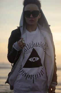 Illuminati T Shirt by Art Disco All Seeing Eye Graphic 90s Aztec