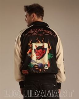 XL XLarge New Ed Hardy Christian Audigier Zip Up Track Jacket Bulldog