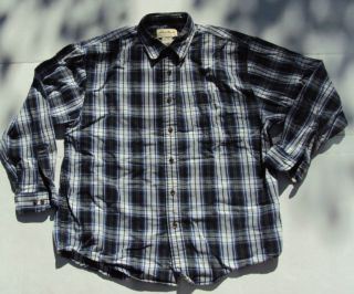 Eddie Bauer Mens Long Sleeve Button Front Shirt Size Medium