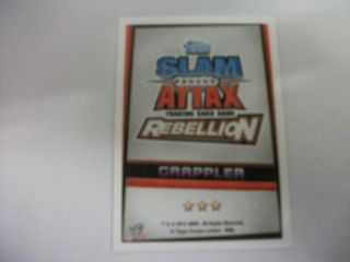 WWE Slam Attax Rebellion Grappler Cards Choose Which Card You Want New