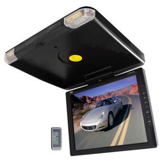 LCD TFT Roof Flipdown Car Monitor DVD Screens w IR Tranansmit