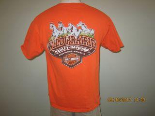 DAVIDSON Sz Large Orange SS T Shirt ~WILD PRAIRIE EDEN PRAIRIE MN