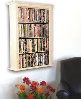 White 342 Wall Mount CD DVD Media Storage Rack Shelf