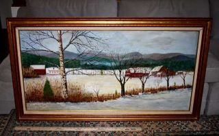 Edward Willis E w Redfield Signed Oil Painting Frame