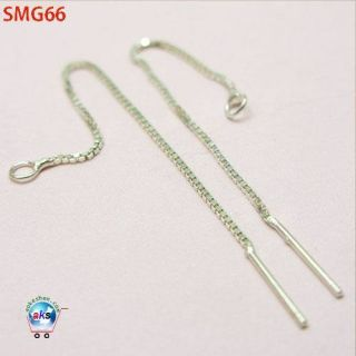 925 Sterling Silver Charms Earring Ear Wire Chain Thread SMG66