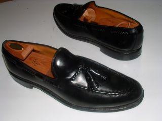 ALLEN EDMONDS Brookwood BLACK Leather Mens DRESS Shoe TASSEL LOAFER 13