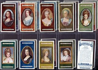 Tobacco Card Set, John Players & Sons, MINIATURES, Paintings