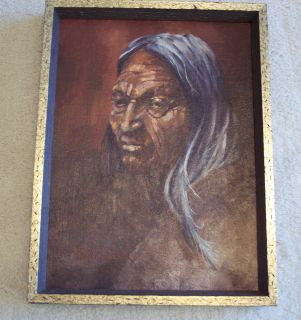 NATIVE AMERICAN INDIAN, PAINTING ORIGINAL. ARTIST SIGNED G