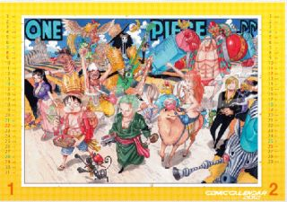 Japan Anime One Piece New Comic Calendar 2012 Eiichiro Oda Luffy Nami