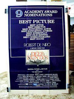 The Deer Hunter Academy Awards Movie Poster Robert de Niro Christopher
