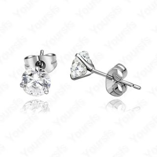 GP Ear Pin Swarovski Crystal 1ct Diamond Wedding Studs Earring