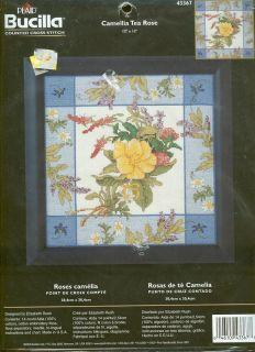Bucilla Camellia Tea Rose Counted Cross Stitch Kit