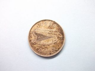 1954 eire ireland 1 one shilling coin