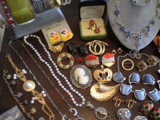 Vtg 65 Piece Costume Jewelry Lot Les Bernard Accessocraft NYC Kirks