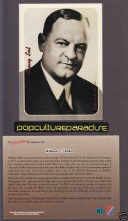 William E Holler Chevrolet Biography Photo Chevy Card