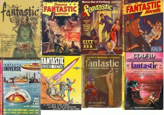 AMAZING STORIES & FANTASTIC Science Fiction Pulps 268 Magazines 2 DVD