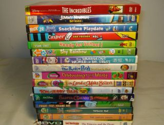 Lot of DVDS 16 Childrens incredibles barney tom jerry blues clues etc