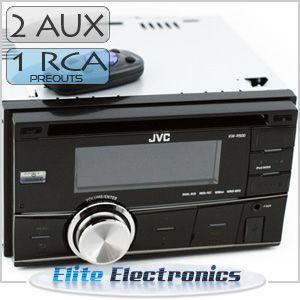 JVC KW R400 CD  USB Dual Aux Player Stereo Headunit Receiver Radio