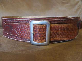 El Paso Saddlery Co Tooled Leather Cartridge Belt
