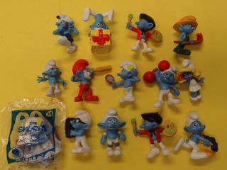 FUN Collection Mcdonalds 2011 Smurfs PVC Figures 14pcs Well Made