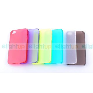 Ultra Thin 0 5mm Frosted Design Protection Case Cover for iPhone 4 4S