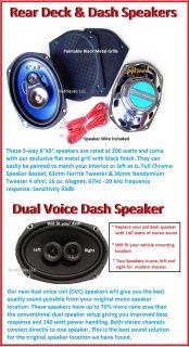 Rear Deck Dash Speakers Stereo Radio 6x9 Dual Voice 3001