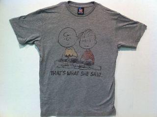 Junk Food Peanuts Thats What She Said Adult Shirt s XL
