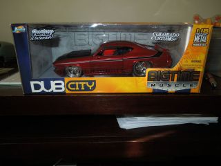 JADA DUB CITY BIG TIME MUSCLE 1969 CHEVROLET CHEVELLE SS 1 18 SCALE