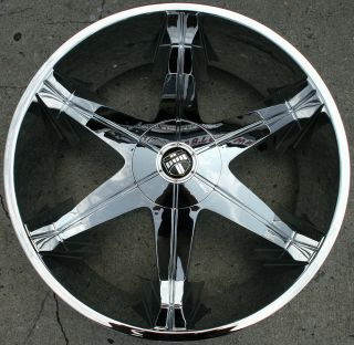 Dub Big Homie 3 26 Chrome Rims Wheels GMC Sierra 07 Up 26 x 9 5 6H 30