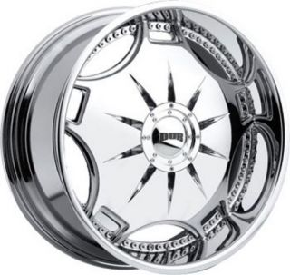 26 Dub Ganja Custom Chrome Wheels Set of 4 New