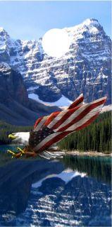 Smokey Mountains Eagle Cornhole Game Decal Wrap