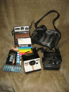Vintage Instant Camera Lot Polaroid Pronto SE Sonar One Step rainbow