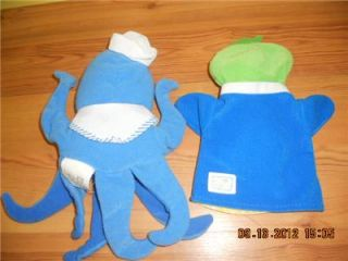 Up for auction is a Baby Einstein Hand Puppet OCTOPUS & DUCK Toy