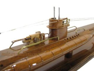 WOLF PACK WWII U BOAT U 99 SUBMARINE OTTO KRETSCHMER WOOD WOODEN MODEL