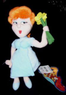 Dudley do Rights Girl Nell Fenwick Stuffed Plush Rocky and Bullwinkle