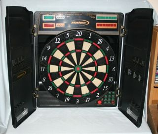 Halex Electronic Dart Board in Case